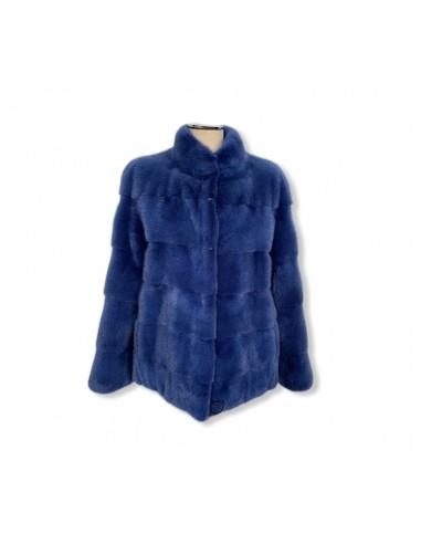 Giacca di visone blu